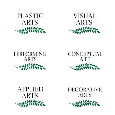 Different Kinds of Arts Illusztráció