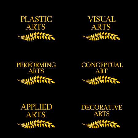 Different Kinds of Arts Illustration