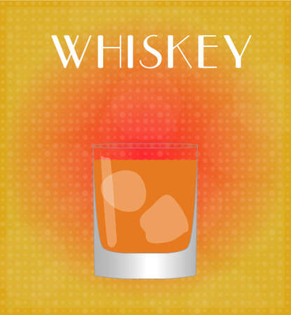 Drinks List Whiskey with Red   Golden Background  Vector