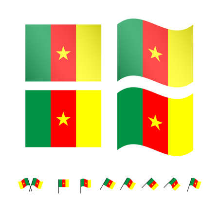 cameroon: Cameroon Flags Illustration