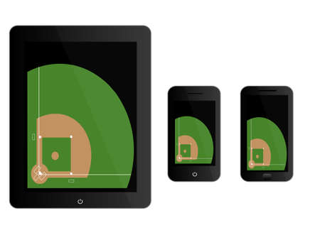 baseball diamond: Mobile Devices with Football Field Black