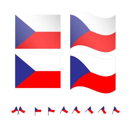 czech republic: Czech Republic Flags Illustration