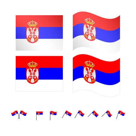 compatriot: Serbia Flags Illustration