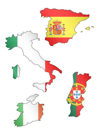 Map Of Spain Portugal And Italy.103 Dublin Region Stock Illustrations Cliparts And Royalty Free