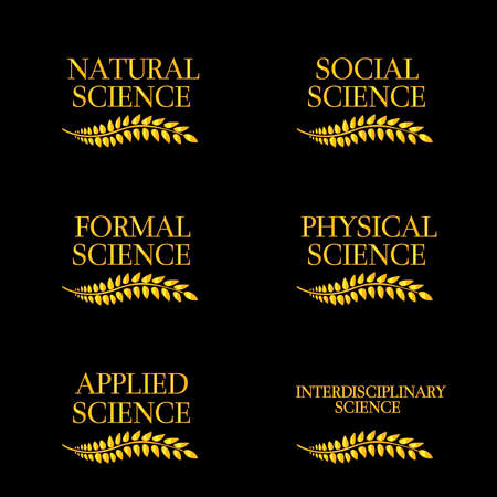 Kinds of Science Laurels Vector