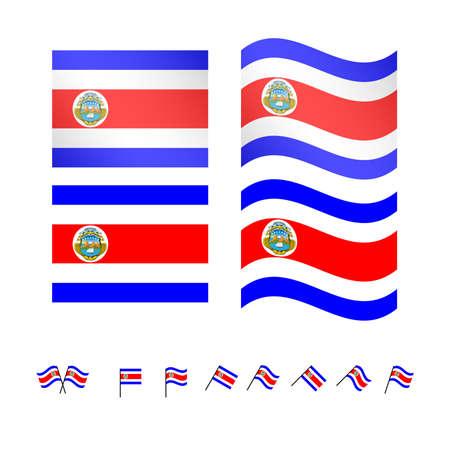 costa: Costa Rica Flags
