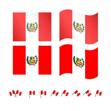 compatriot: Peru Flags  Illustration