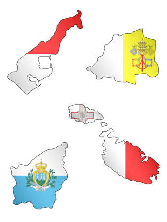 compatriot: Europe Maps with Flags 8