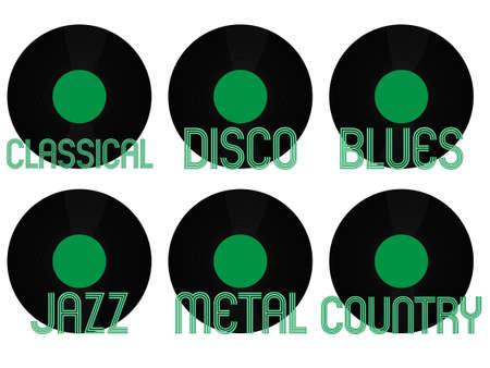Music Genres Vinyl  Vector
