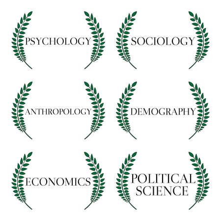 Kinds of Social Science Laurels  Stock Vector - 28895492