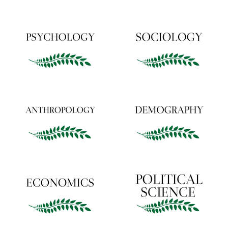Kinds of Social Science Laurels  Vector