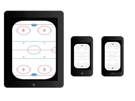 hockey rink: Dispositivos m�viles con Hockey de Hielo Negro