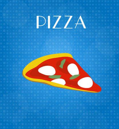 craving: Menu Food Pizza con fondo azul