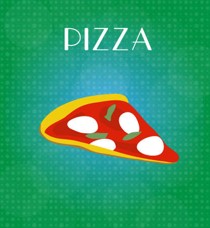craving: Food Menu Pizza with Green   Blue Background