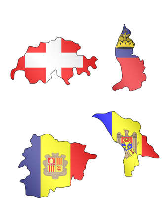 Europe Maps with Flags 9