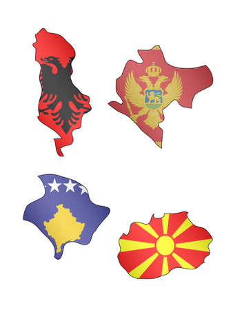 compatriot: Europe Maps with Flags 12  Illustration