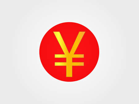 deregulation: Yen Currency Sign on the center of the Japanese Flag Illustration
