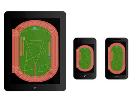 track pad: Mobile Devices with Athletics Field Black