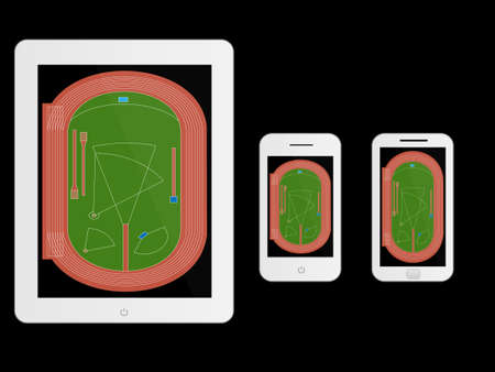 track pad: Mobile Devices with Athletics Field White