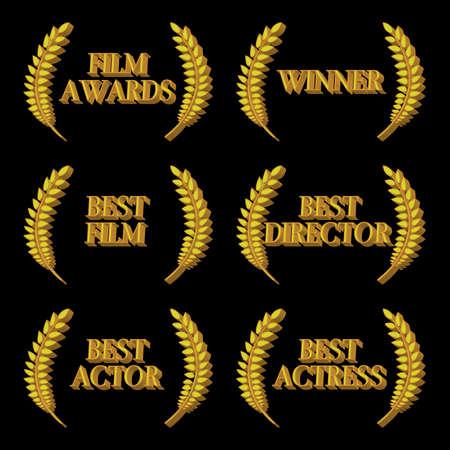 star award: Film Winners 3D 2 Illustration