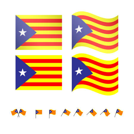 catalonia: Catalonia Pro-Independence Flags