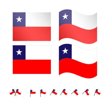 compatriot: Chile Flags EPS 10 Illustration