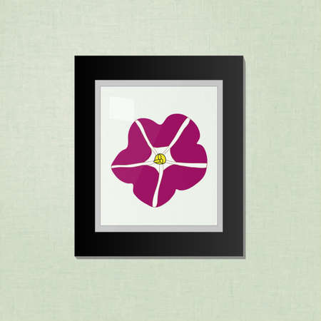 petunia: Petunia Picture on a Black Frame EPS10 Illustration