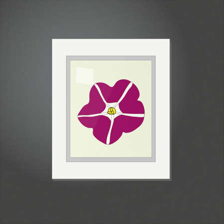 living room wall: Petunia Picture on a White Frame EPS10 Illustration