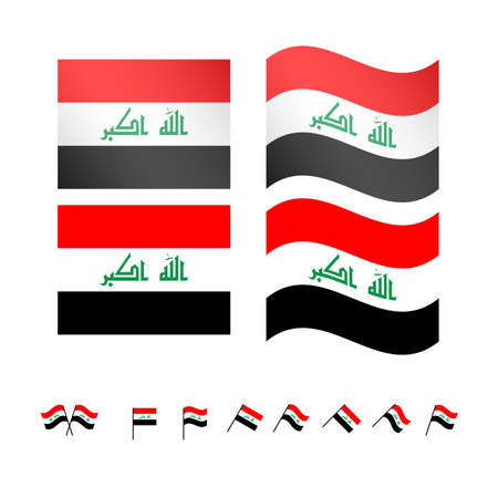 basra: Iraq Flags EPS10