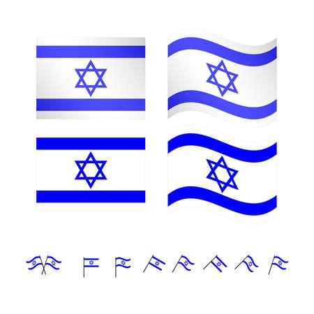Israel Flags EPS10