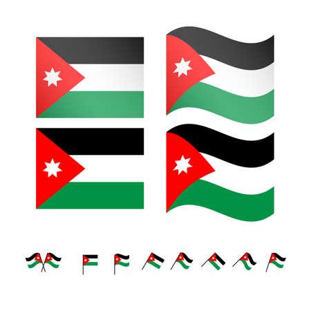 Jordan Flags EPS10 Illustration