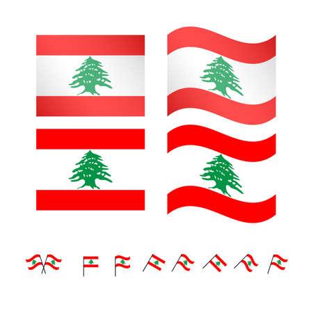 Libanon Fahnen EPS10 Standard-Bild - 34622901