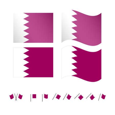 compatriot: Qatar Flags EPS10