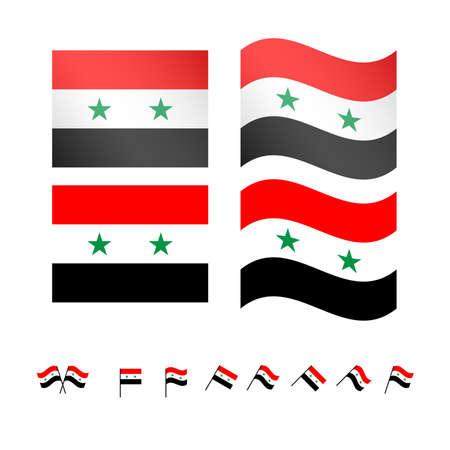 compatriot: Syria Flags EPS10 Illustration
