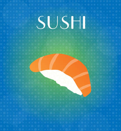 crave: Food Menu Sushi with Blue & Golden Background EPS10