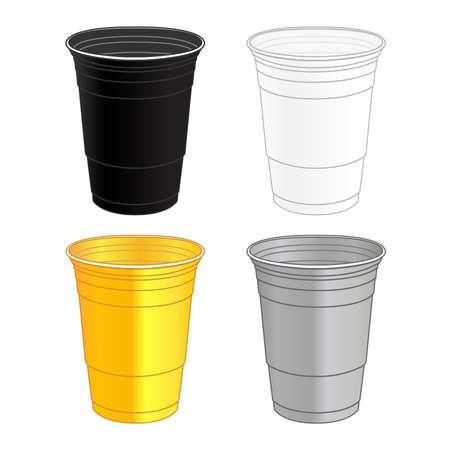 축하 플라스틱 컵 일러스트
