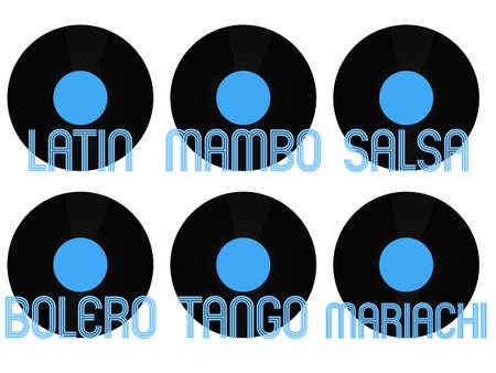 genres: Latin Music Genres Vinyl 1 Illustration