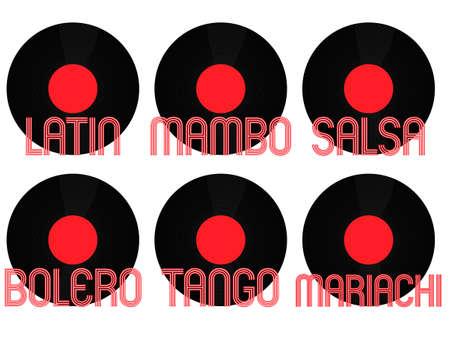genres: Latin Music Genres Vinyl 2 Illustration