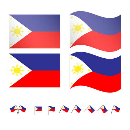 world flags: Philippines Flags EPS 10