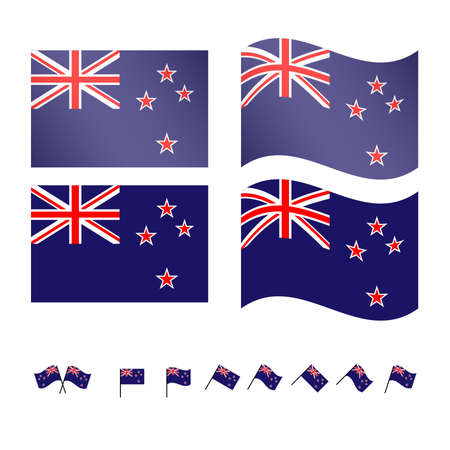 compatriot: New Zealand Flags EPS 10