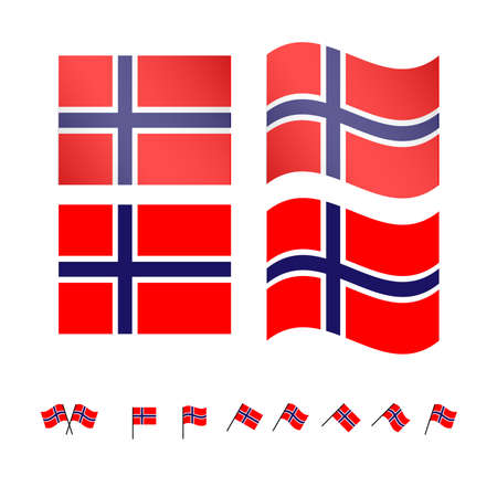 compatriot: Norway Flags EPS 10