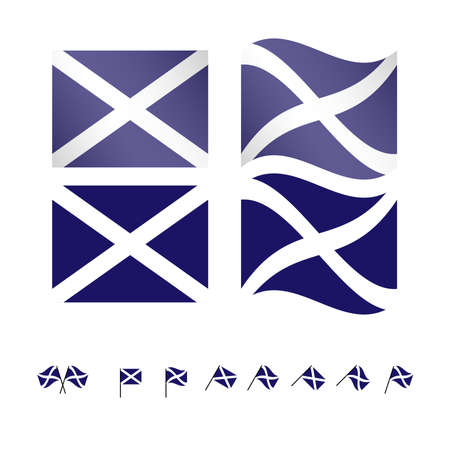 andrews: Scotland Flags EPS 10 Illustration