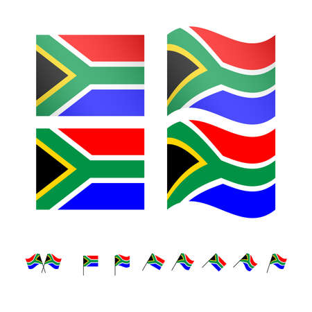 compatriot: South Africa Flags EPS 10