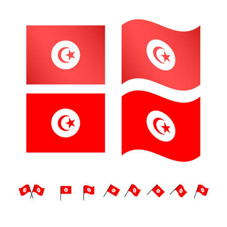 berber: Tunisia Flags EPS10 Illustration
