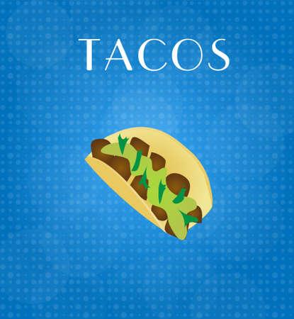 craving: Tacos Alimentos Men� con Blue EPS10 Antecedentes