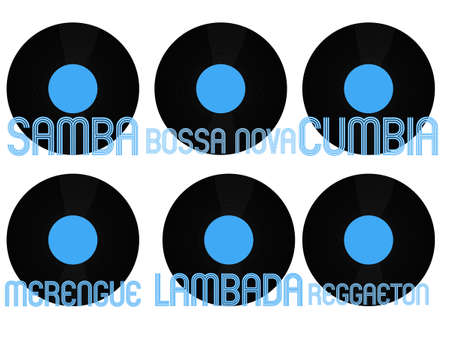 genres: Latin Music Genres Vinyl 5 Illustration