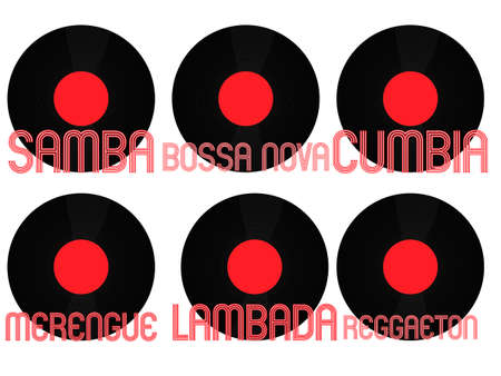 genres: Latin Music Genres Vinyl 6 Illustration