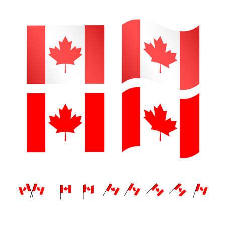 compatriot: Canada Flags EPS 10