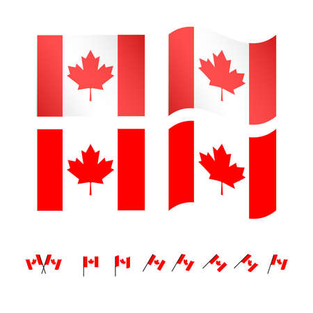 Canada Flags EPS 10