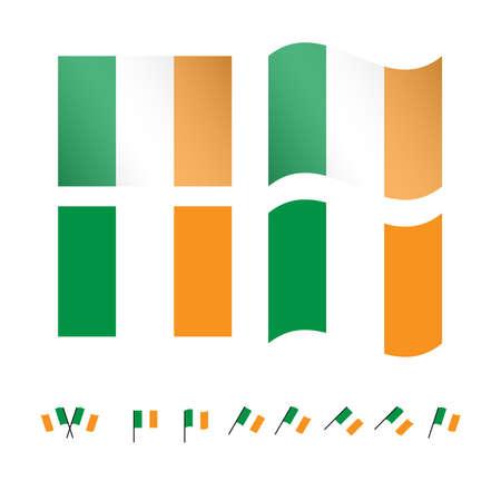 compatriot: Ireland Flags EPS 10